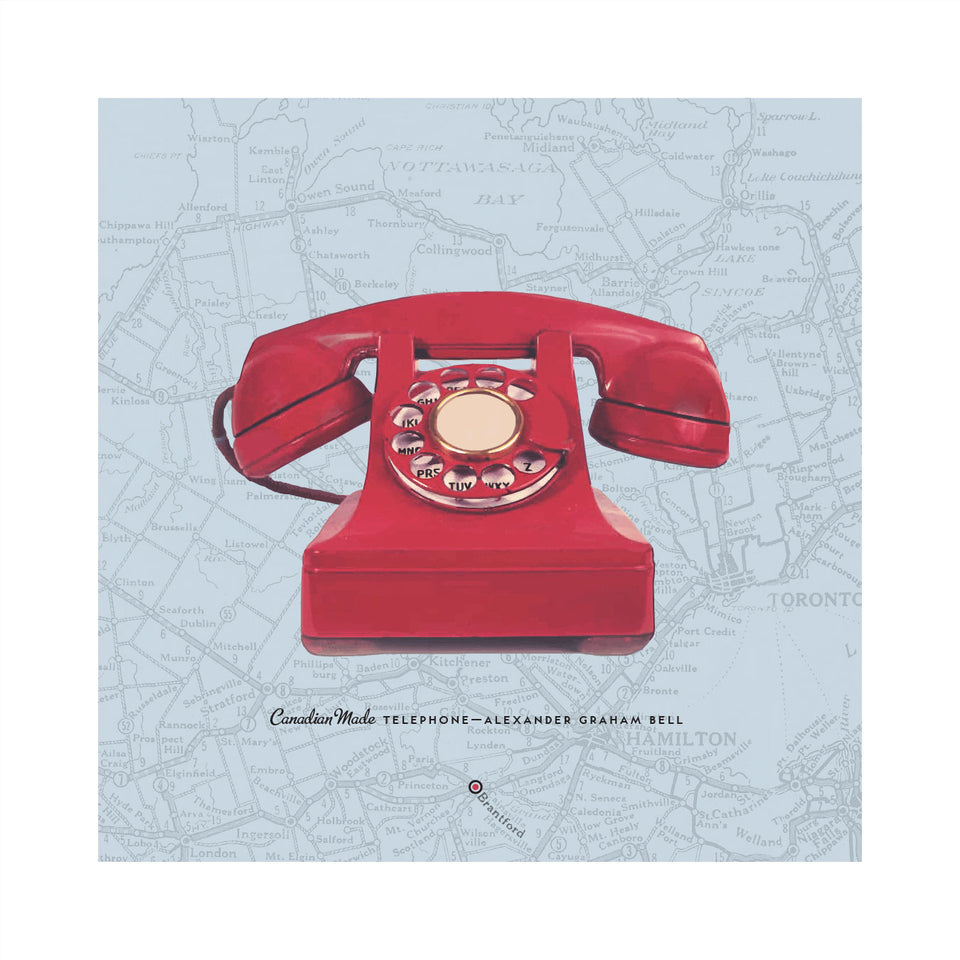 Retro 1950s Telephone: Map Edition