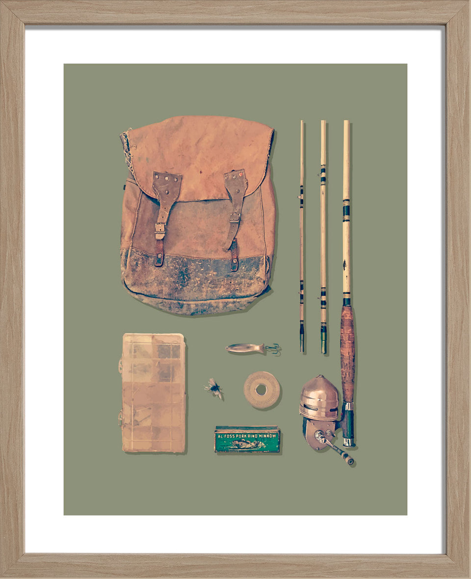 Vintage Fishing Kit