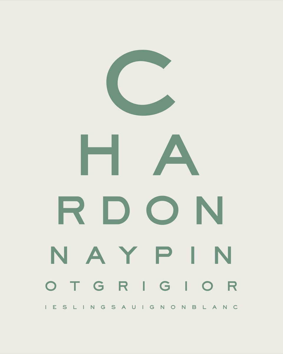 'White Wine Goggles' Eye Chart