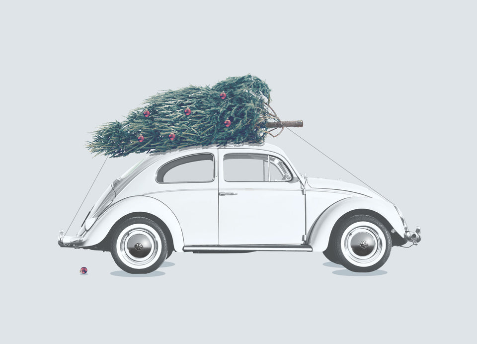 Greeting Card: '66 Christmas Beetle