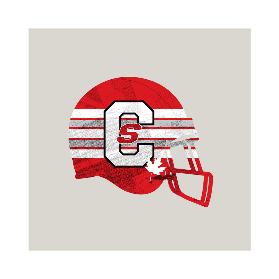 Calgary Stampeders-Inspired Football