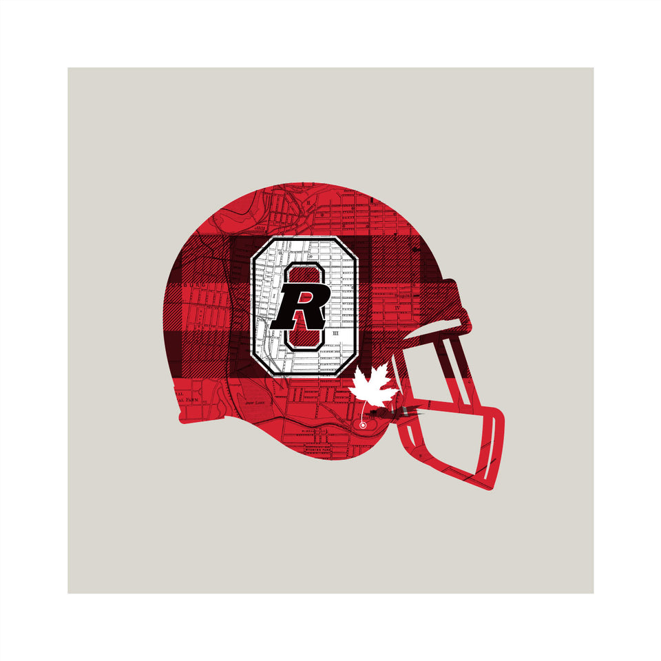 Ottawa RedBlacks-Inspired Football