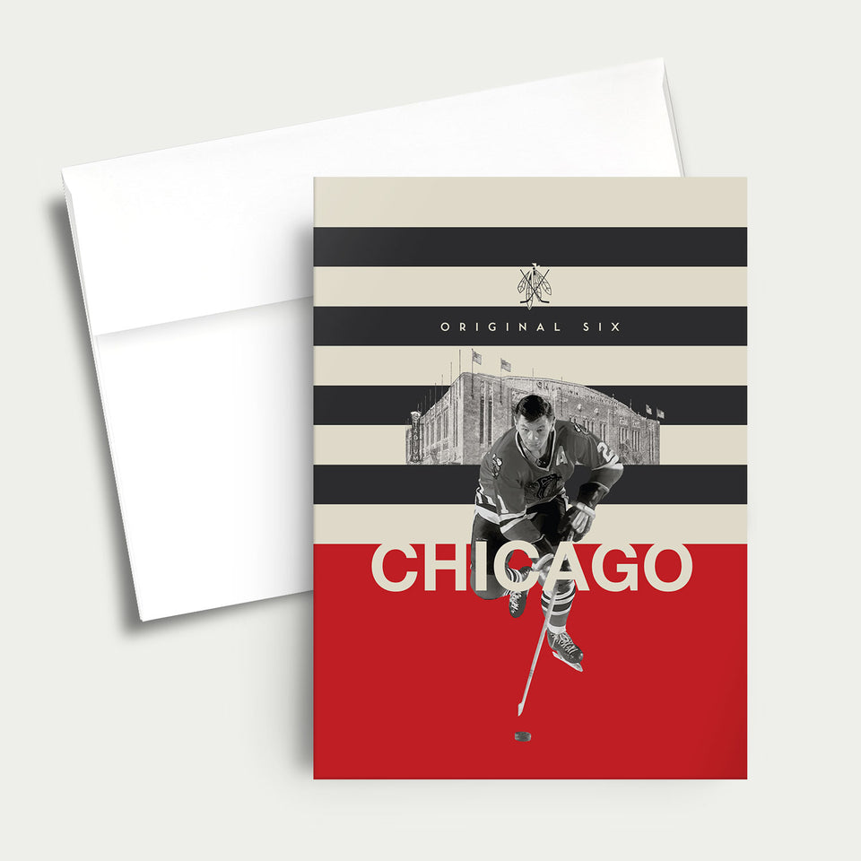 Greeting Card: NHL Original Six-Chicago Black Hawks