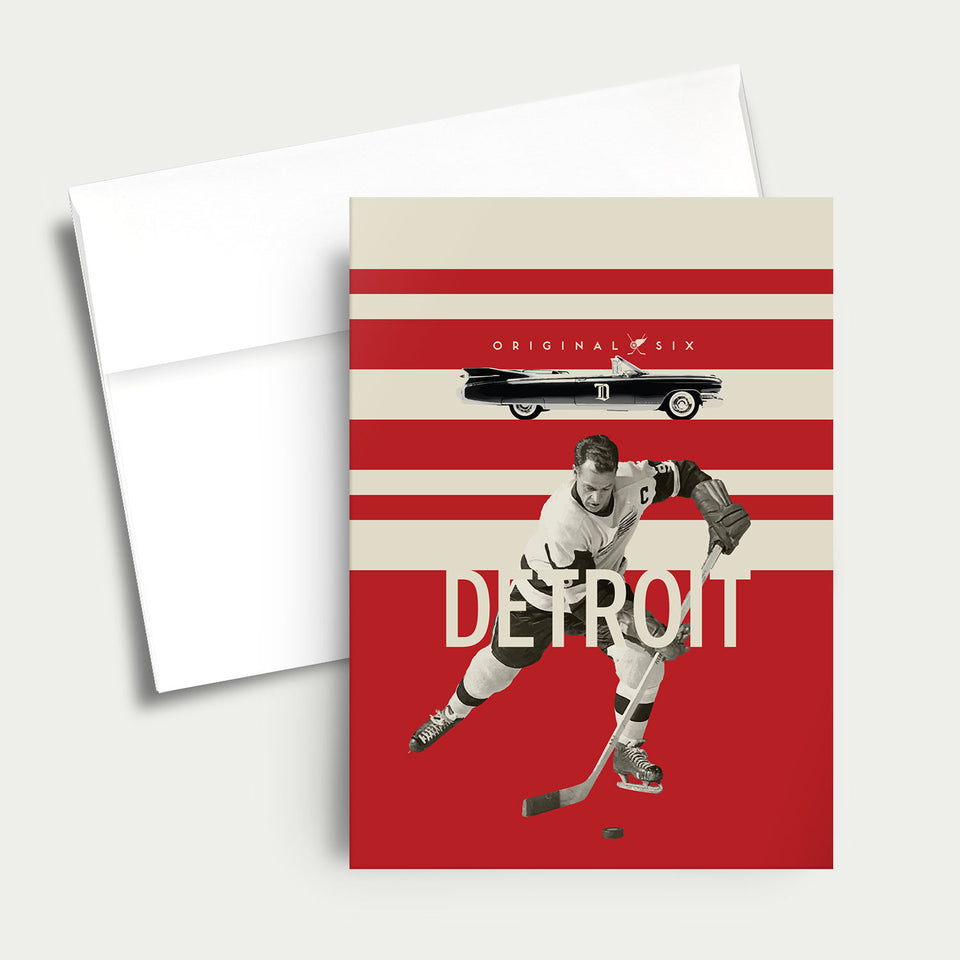 Greeting Card: NHL Original Six-Detroit Red Wings