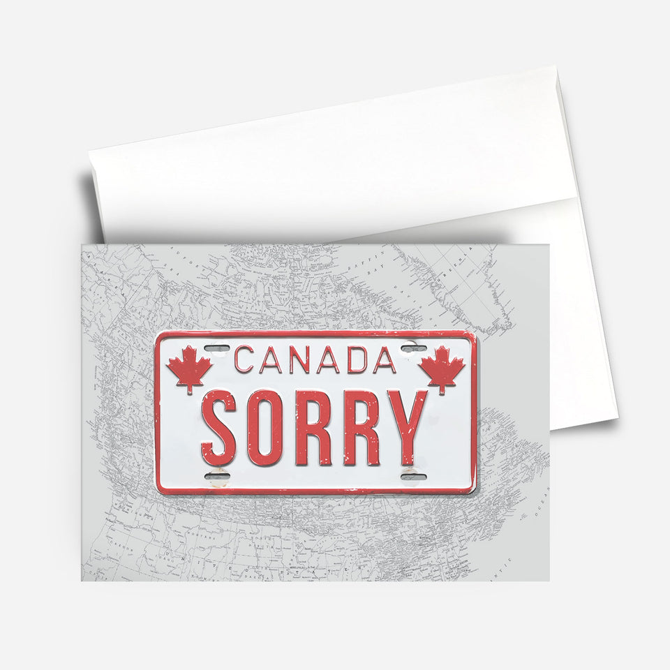Greeting Card: Sorry Vintage License Plate