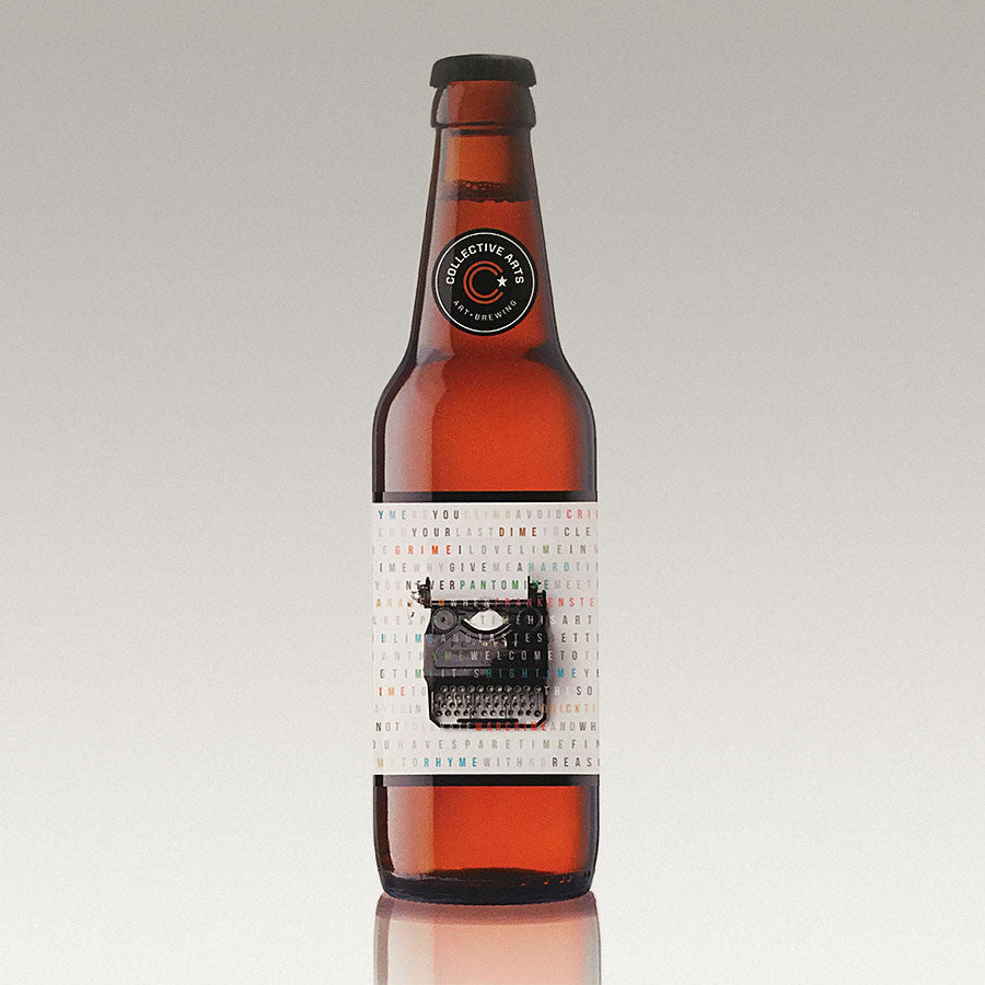 'Rhyme with No Reason' Collective Arts Beer Label