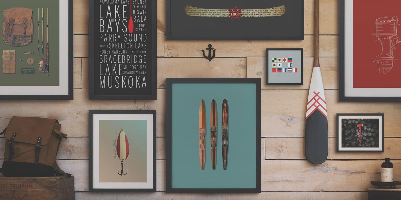 Cottage art prints from ManMade art