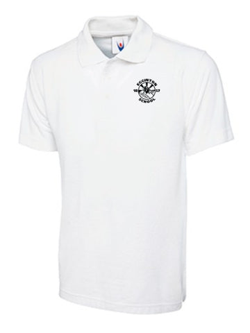 Egginton School White Polo Shirt - IPM Teamwear