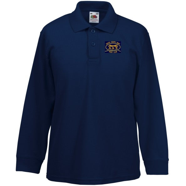 South Staffs Hunt Pony Club  Junior Long Sleeve Polo Shirt