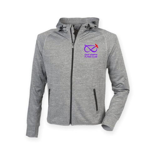 East Staffs Flying Club Women's lightweight running hoodie with reflective tape