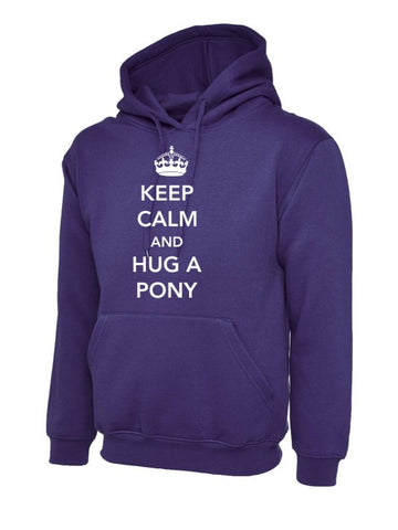 Keep Calm and Hug a Pony Children's Hoody