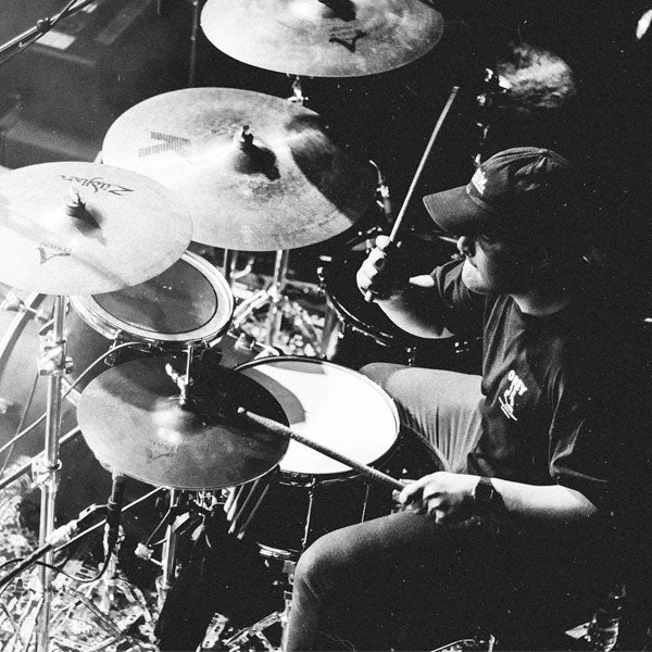 Drums, Black and White, Drummer, Drumsticks, Zildjian Cymbals