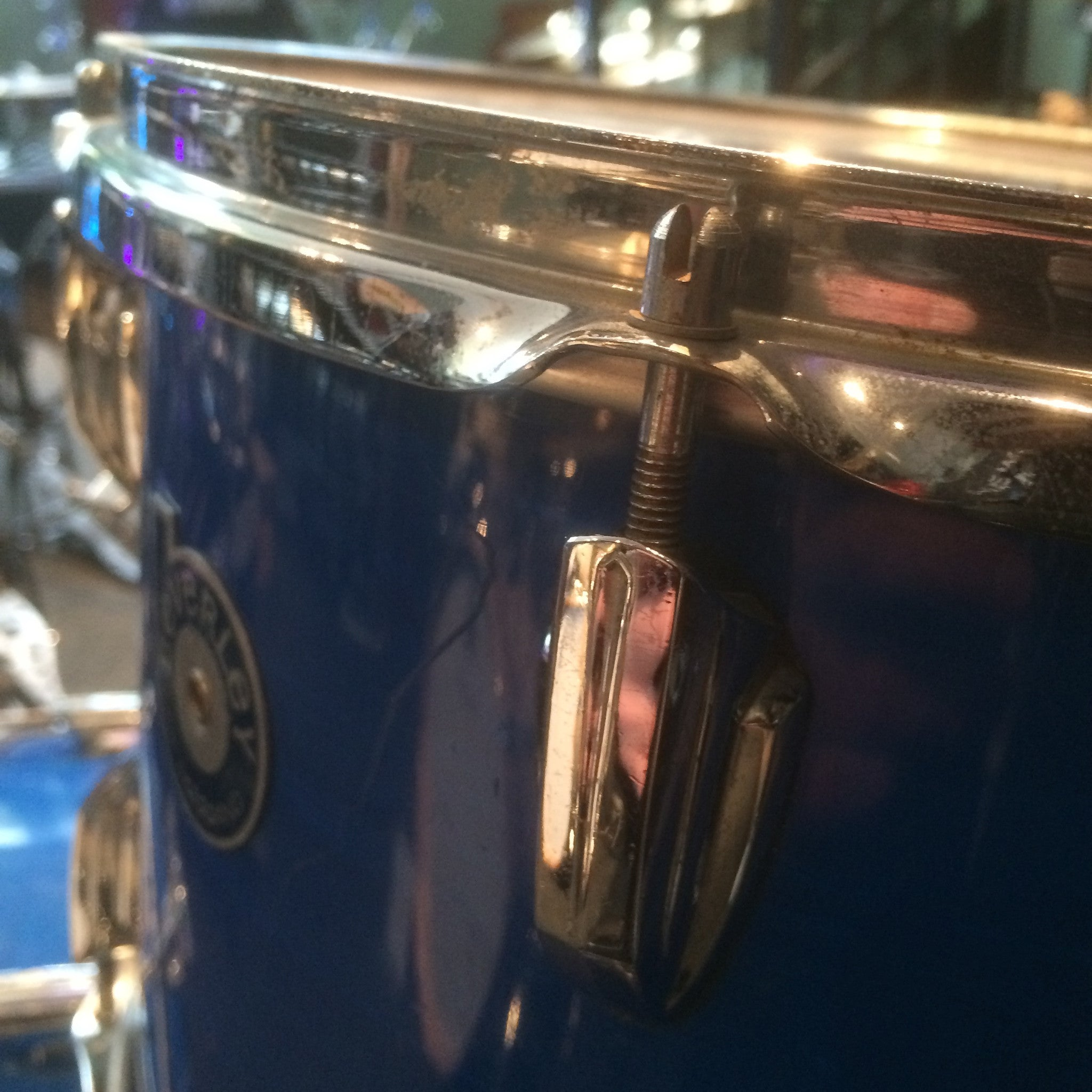 Beverly blue vintage drum kit at Newcastle Drum Centre
