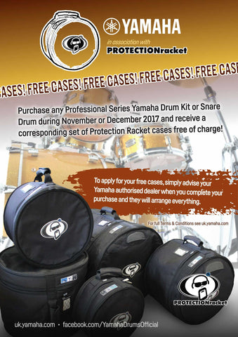 ProtectionRacket, Free Cases, Free Product, Terms and Conditions, Yamaha, Drums, Drum Cases.
