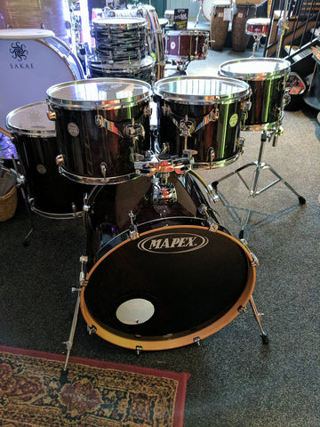 "Pre Loved Mapex Horizon 6-Piece Drum Kit Midnight Black with FREE 10"" Tom"