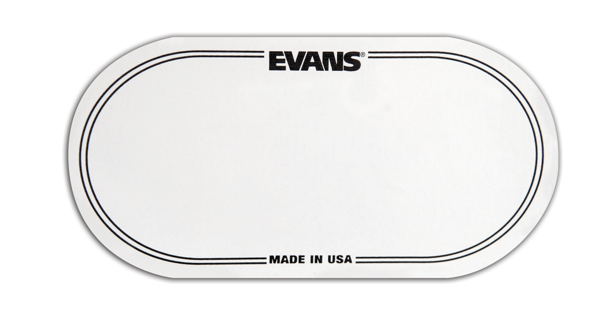 Evans EQ Double Pedal Patch, Clear Plastic