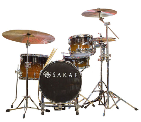 Sakae Pac-D 4-Piece Compact Drum Kit in Tobacco Fade