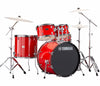 "Yamaha Rydeen 22"" US Fusion Drum Kit with Hardware in Hot Red, Yamaha, Acoustic Drum Kits, Finish: Hot Red, Yamaha Music, Yamaha Rydeen"