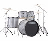 "Yamaha Rydeen 22"" US Fusion Drum Kit with Hardware in Silver Glitter, Yamaha, Acoustic Drum Kits, Finish: Silver Glitter, Glitter, Yamaha Music, Yamaha Rydeen"