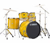 "Yamaha Rydeen 22"" US Fusion Drum Kit with Hardware in Mellow Yellow, Yamaha, Acoustic Drum Kits, Finish: Mellow Yellow, Yamaha Music, Yamaha Rydeen"