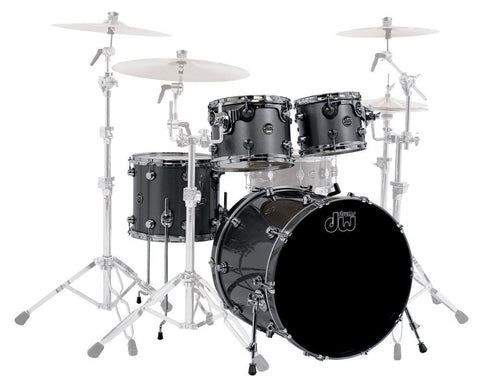DW Performance Series 4-Piece Lacquer Shell Pack In Gun Metal Metallic
