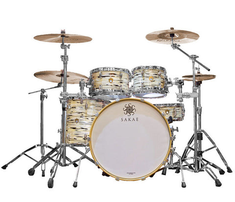 Sakae Trilogy 4-Piece Rock-Fusion Shell Pack In Mint Oyster Pearl