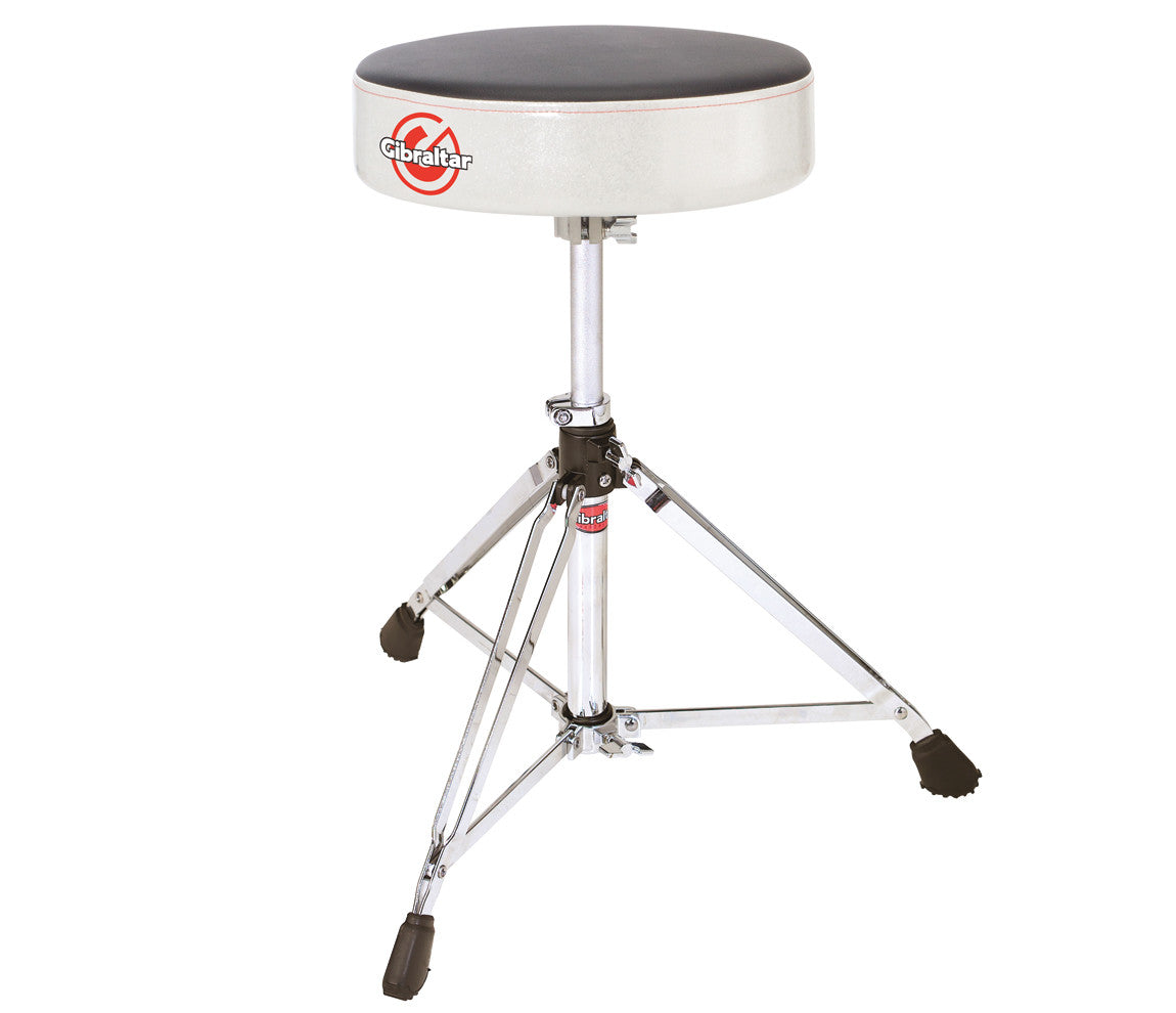 Gibraltar Drum Throne-Round 6608RSW Silver White Sparkle