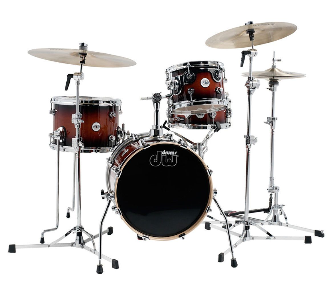 dw design series mini pro gloss lacquer 4 piece jazz drum kit newcastledrumcentre. Black Bedroom Furniture Sets. Home Design Ideas