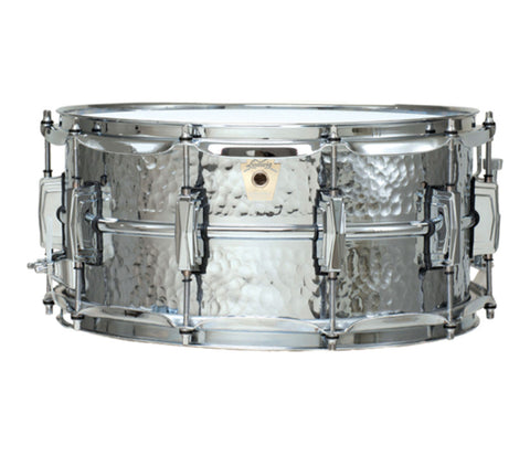 "Ludwig LM402KT 14"" x 6.5"" Hammered Snare Drum With Classic Lugs"