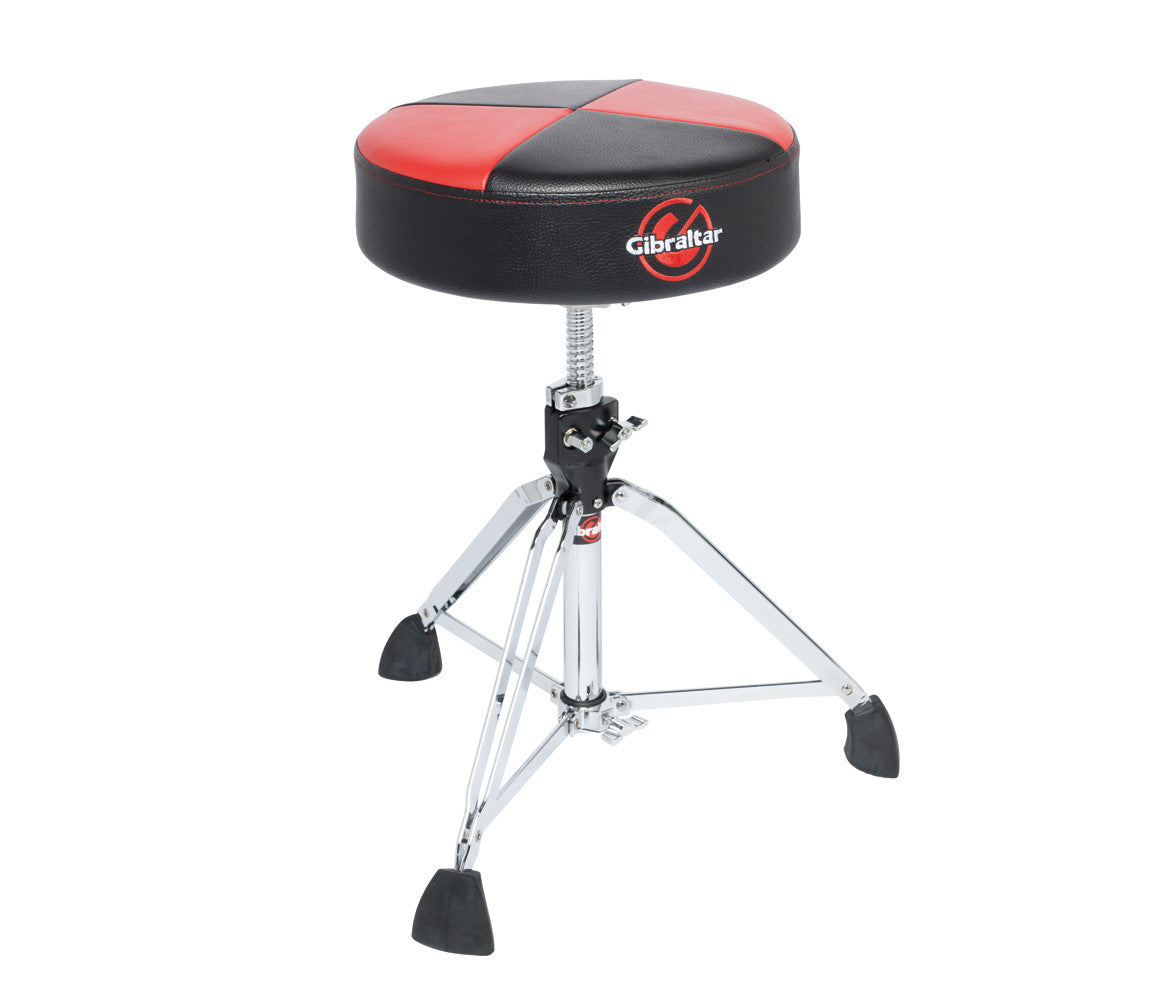 Gibraltar Drum Throne-Round 9608RQPRB Red/Black Quarter