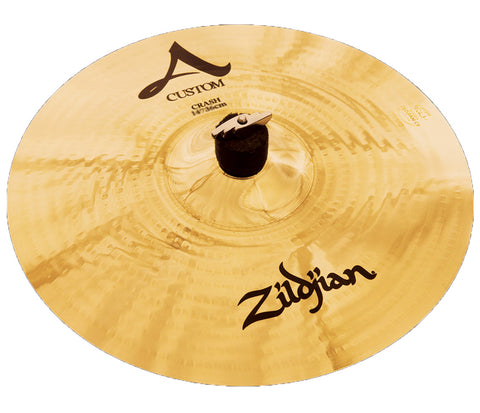 "Zildjian 14"" A Custom Crash Brilliant Cymbal"