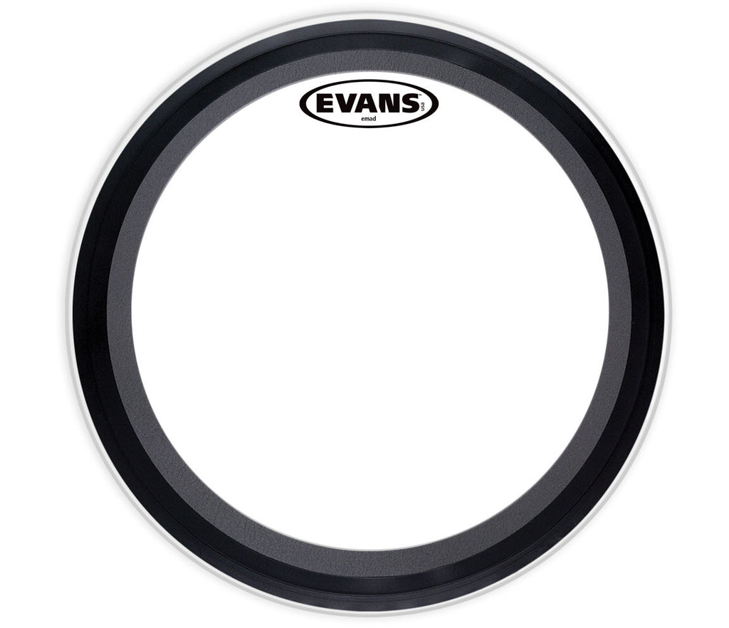 Evans EMAD Coated White Bass Drum Head, 24""