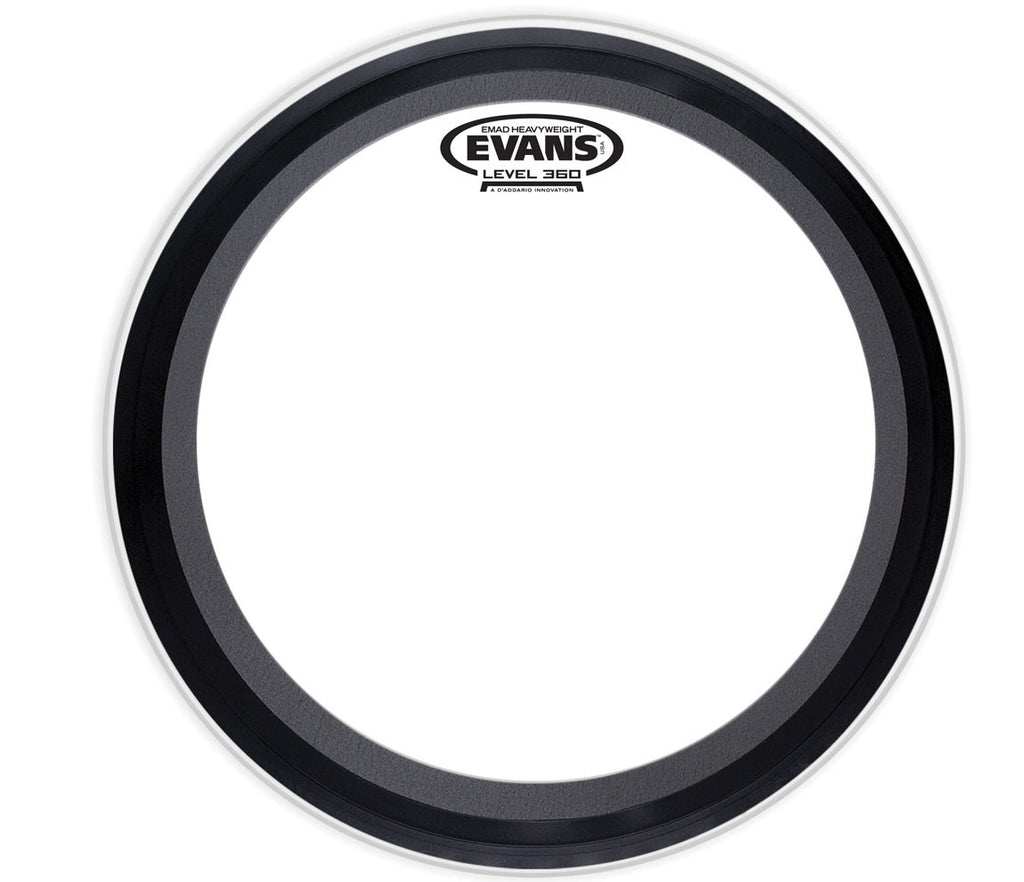 Evans EMAD Heavyweight Clear Bass Drum Head, 24""