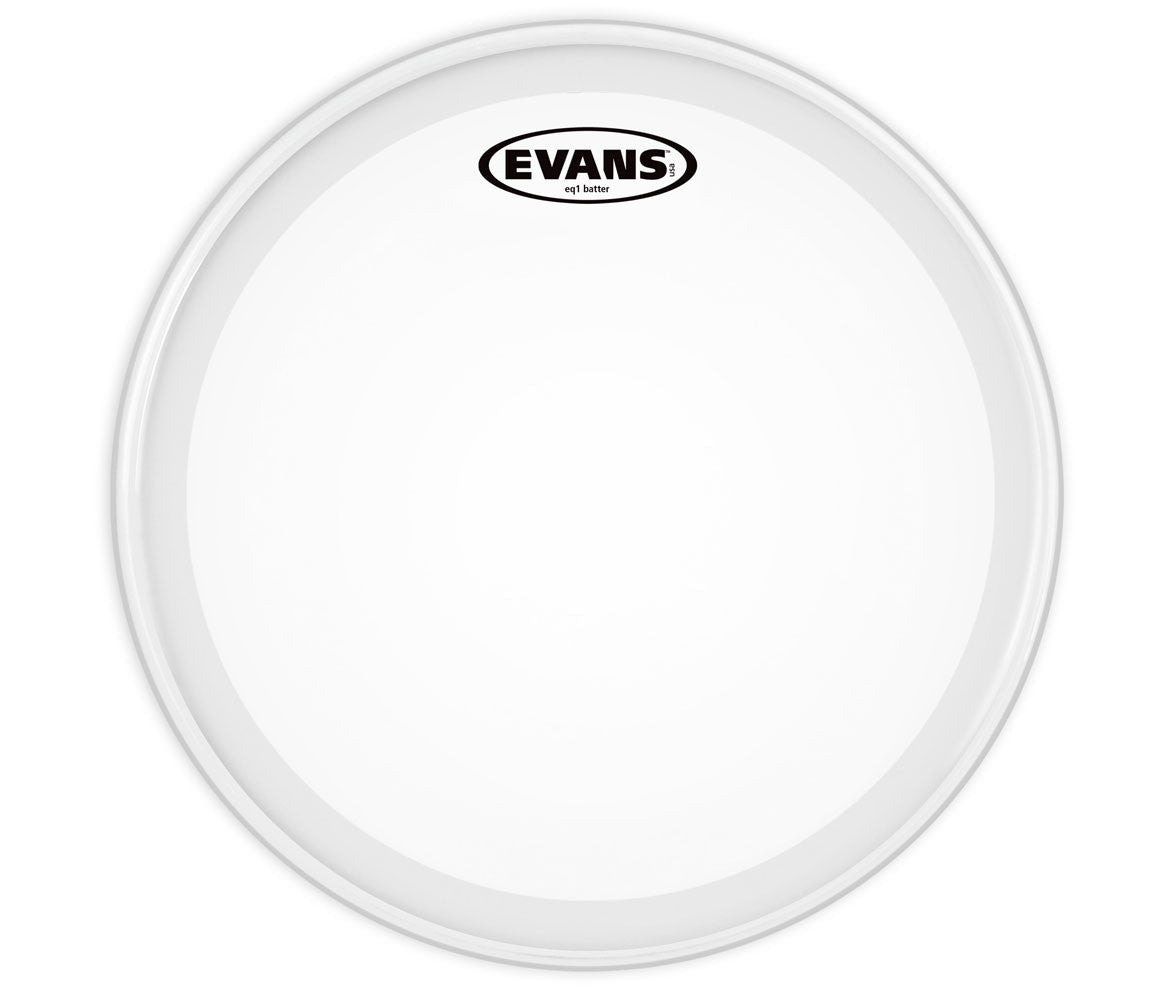 Evans EQ1 Frosted Bass Drum Head, 26""