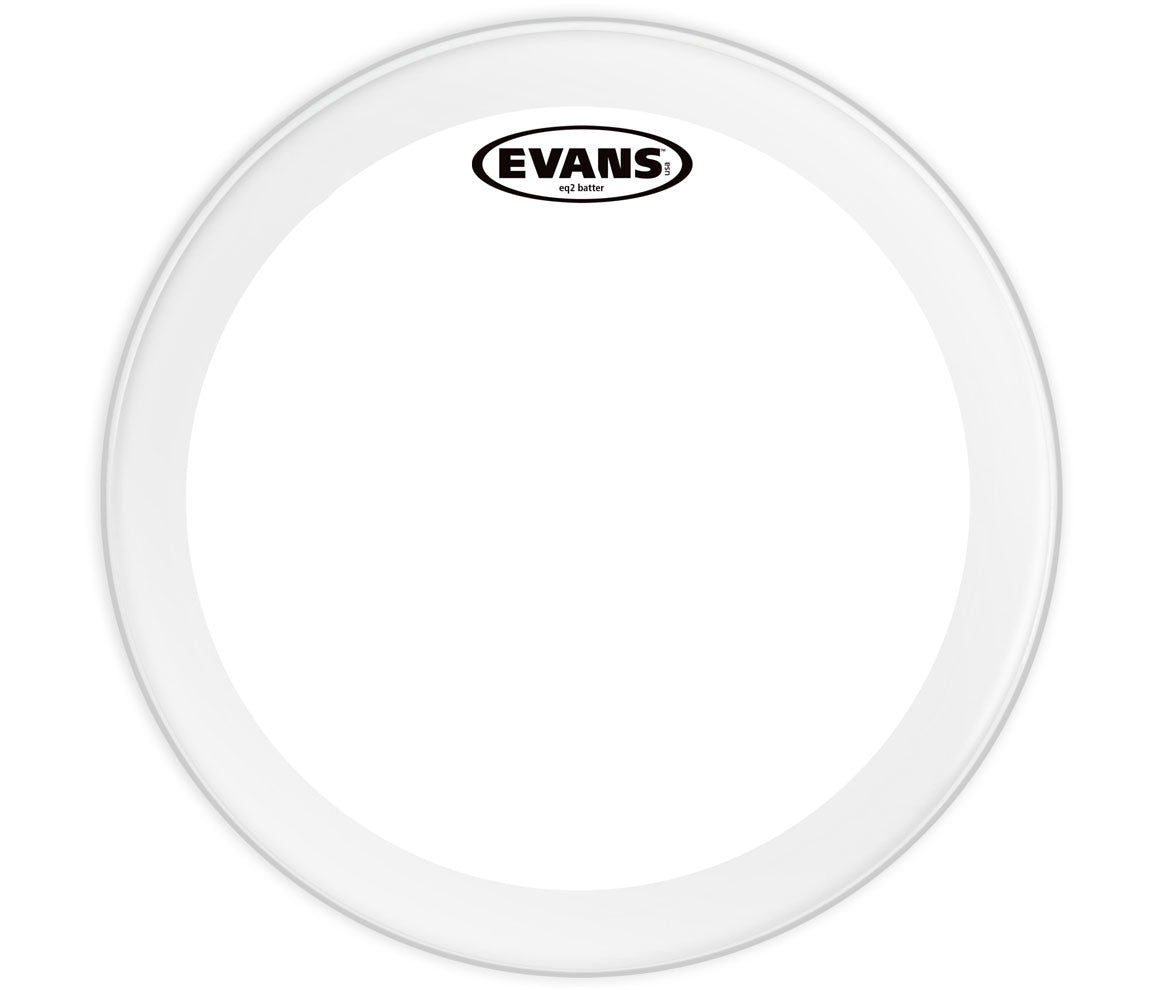 Evans EQ2 Clear Bass Drum Head, 24""