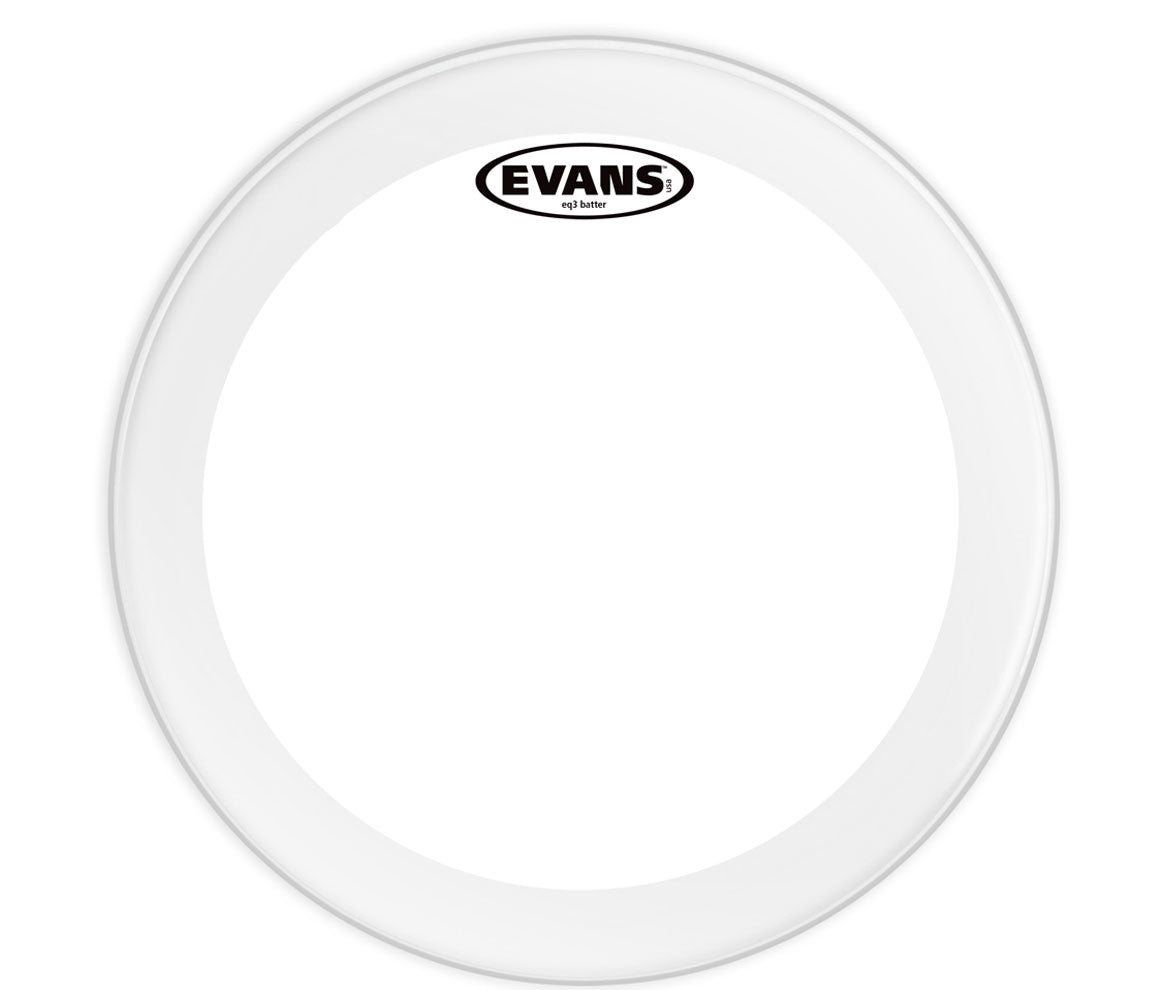 Evans EQ3 Frosted Bass Drum Head, 18""