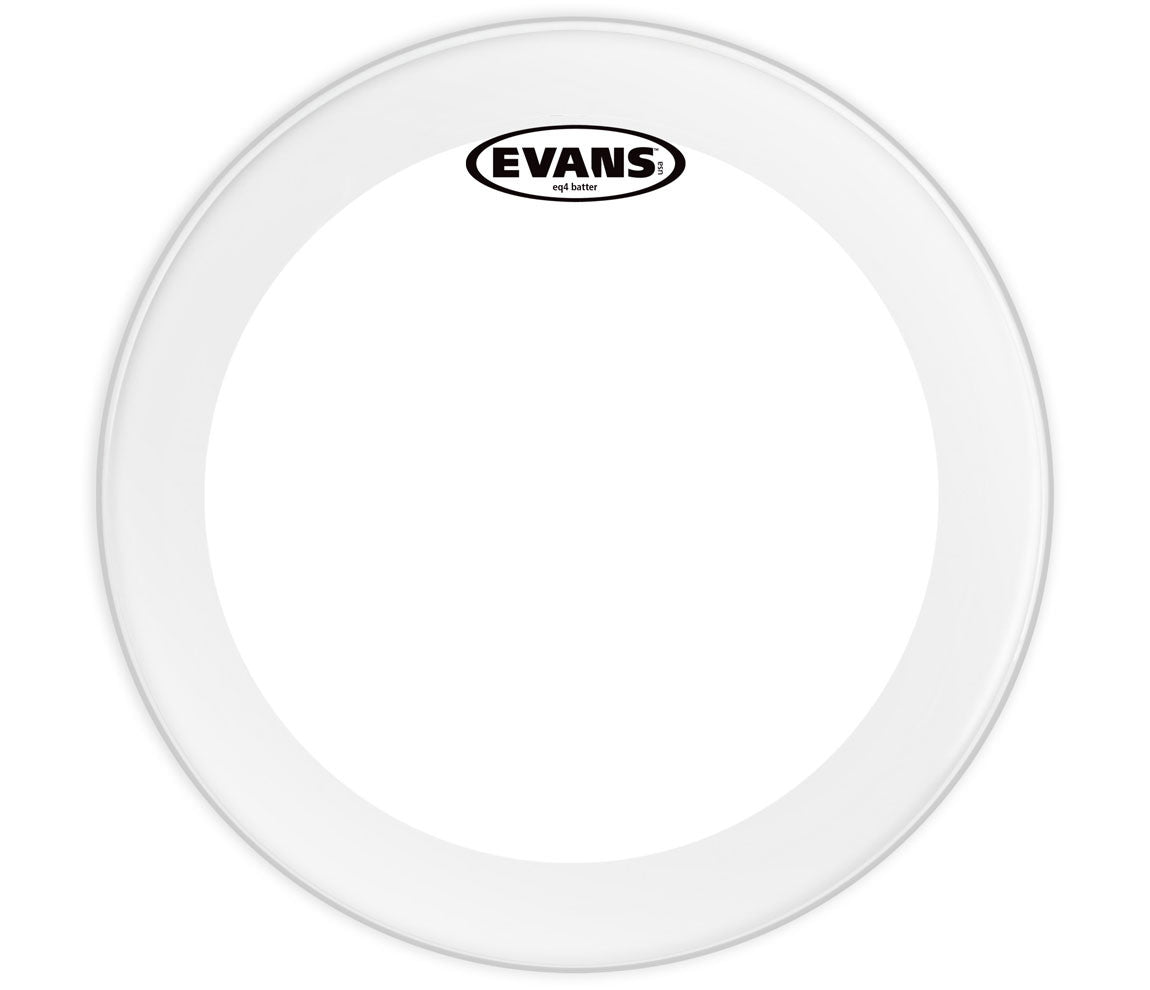 Evans EQ4 Frosted Bass Drum Head, 18""