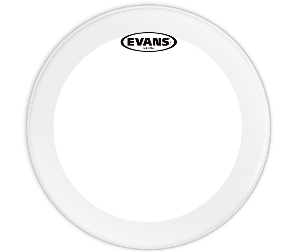 Evans EQ4 Clear Bass Drum Head, 20""