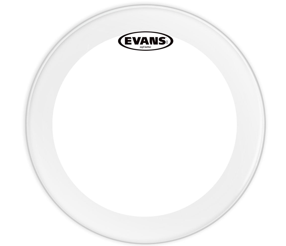 Evans EQ4 Clear Bass Drum Head, 22""