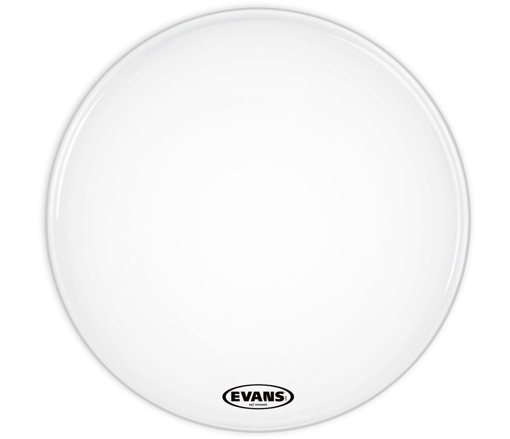 Evans EQ1 Resonant Coated White Bass Drum Head, 20""