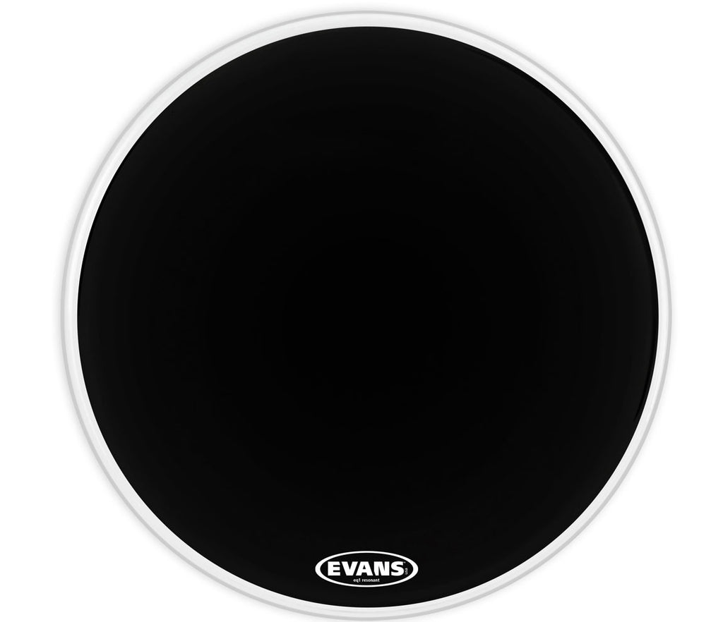 Evans EQ1 Resonant Black Bass Drum Head, 24""