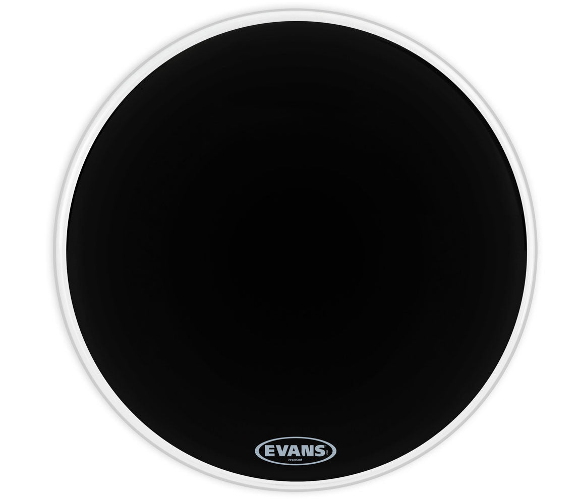 Evans Resonant Black Bass Drum Head, 20""