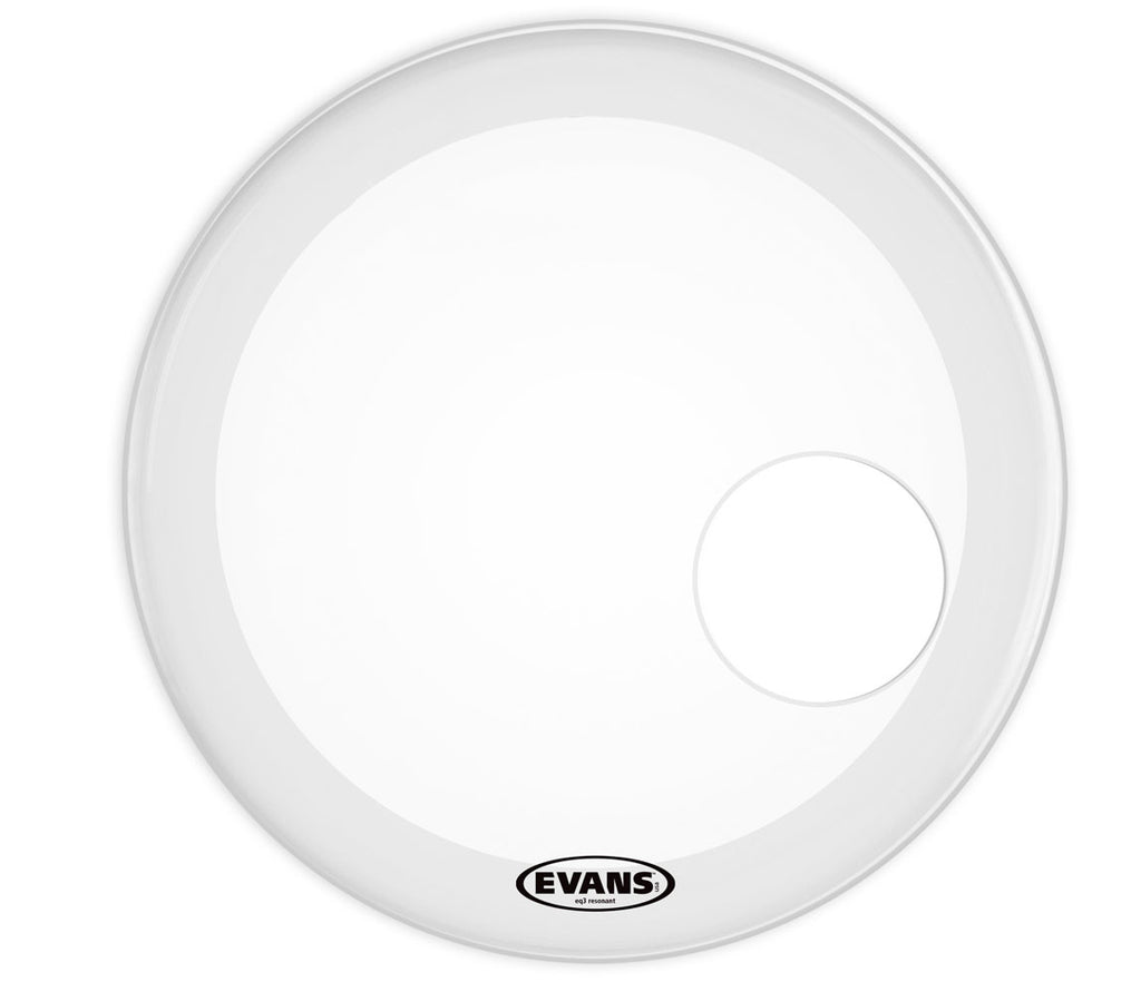 Evans EQ3 Resonant Frosted Bass Drum Head, 18""