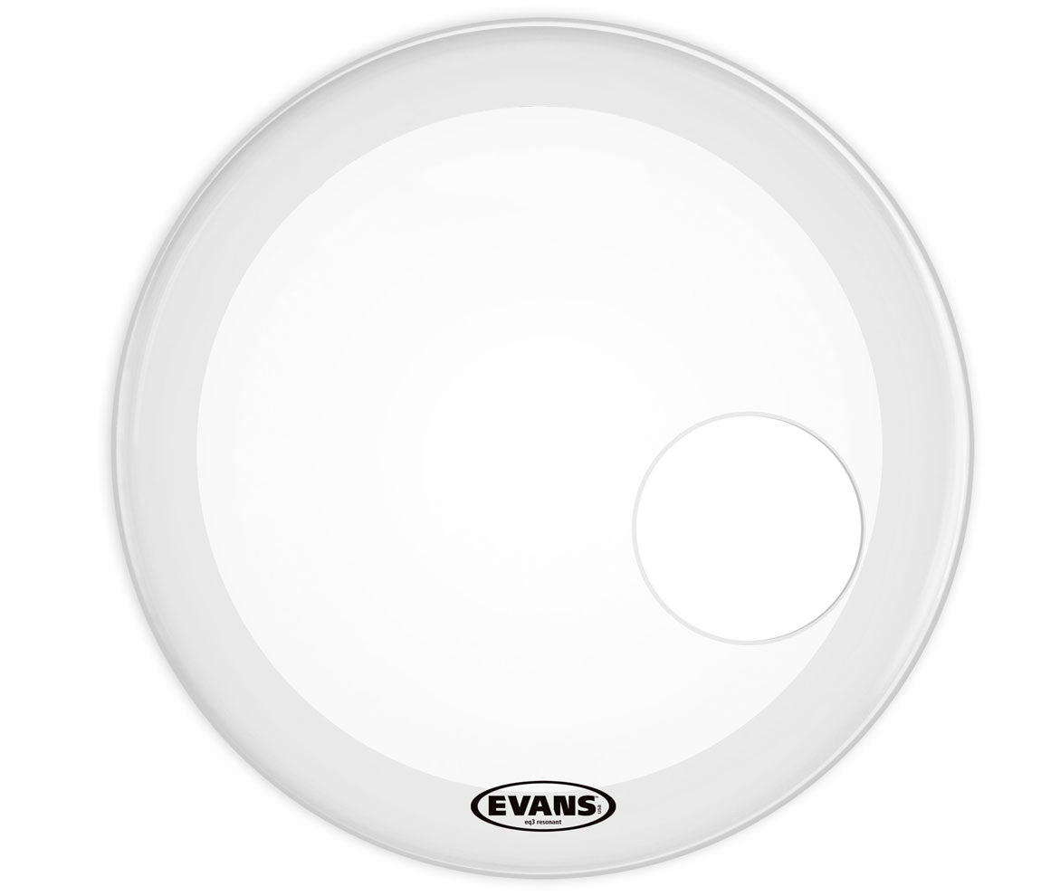 Evans EQ3 Resonant Frosted Bass Drum Head, 24""