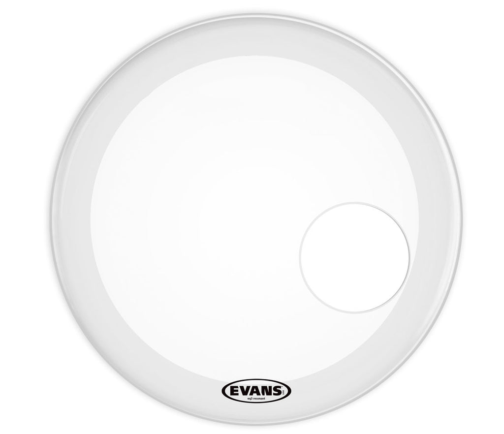 Evans EQ3 Resonant Smooth White Bass Drum Head, 20""