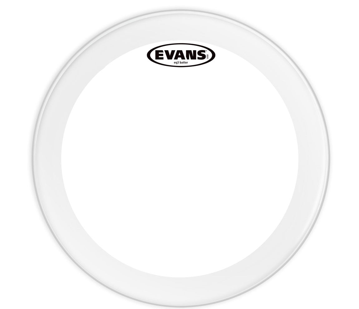 Evans EQ3 Clear Bass Drum Head, 24""