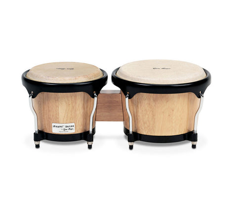 "Gon Bops Fiesta Series Bongos 7"" & 8.5"" - Natural w/ Black Hardware"