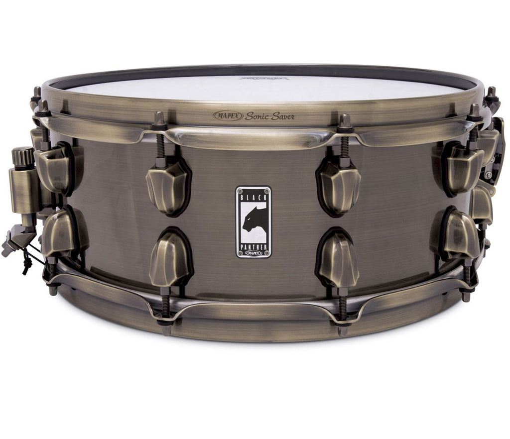 mapex black panther 39 brass cat 39 14 x 5 5 snare drum. Black Bedroom Furniture Sets. Home Design Ideas