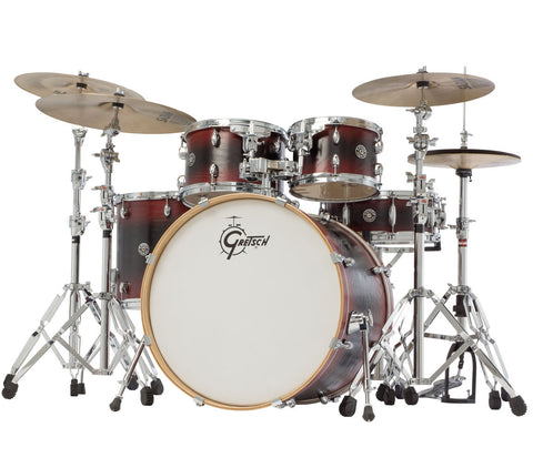 CA1-E825-RBB Gretsch Catalina Ash 5-Piece In Red/Black Burst Shell Pack