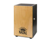 Black Cajon Natural Panel, CJAN-L-SW-BN, Black Natal Logo, Type: Cajons, Vendor:Natal., Natural Panel with Black logo, Natal Percussion